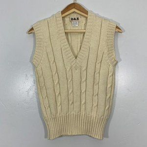 VTG Zeidler & Zeidler Ivory Wool Cable Sweater